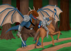 Knight and Draconis by Spacer176