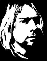 Kurt Cobain Stencil Design by Blinding-Sun