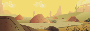 Desert scene, two by Flutterflyraptor