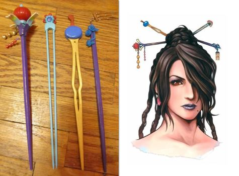 Lulu Hairsticks by Cherry-Blossom-Bliss