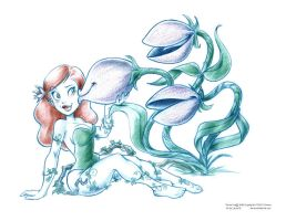 Poison Ivy Seducing Plants by ArtofLaurieB