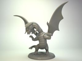 Chibi black dragon mini for Impact Miniatures by zelldweller