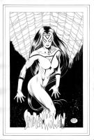 Spider-Woman_Pinup by MichaelBair