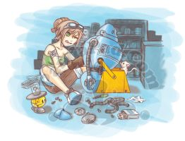 Tinkering with the Robot by GenevieveGT
