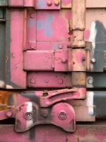 train yard 17 - coloured metal by JensStockCollection