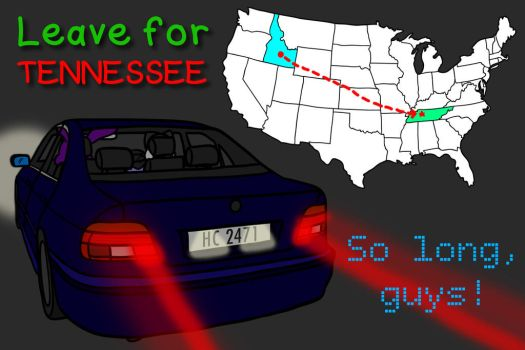 Leave for Tennessee by QuirkyArtie