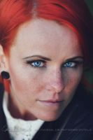 Redhead with blue eyes by Estelle-Photographie