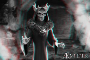 Horned King (anaglyph) by aemiliuslives