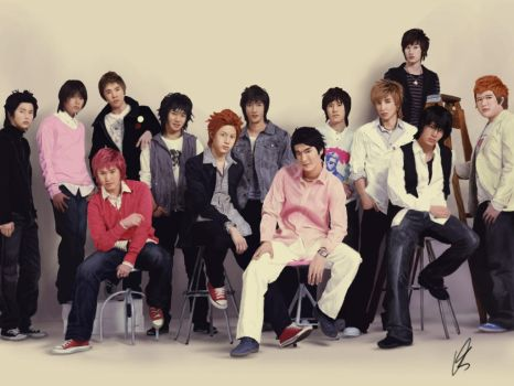 Super Junior by Wonie