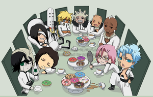 BLEACH -CHIBI espada tea party by Nekozumi