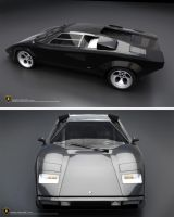 Lamborghini Countach Black by c4lito3d