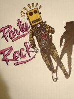 Party Rock Robot drawing by thebmagic