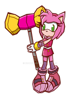 amy boom sonic battle by HuatayFoxy