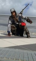 Connor Kenway Cosplay action pose by JonathanPiccini-JP