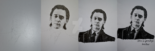 The progress of a Loki drawing by cute06