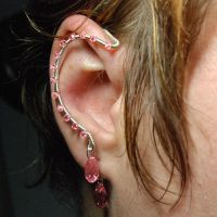 Pink crystal ear wrap- SOLD by YouniquelyChic