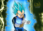 Vegeta Super Saiyan God Blue by SaoDVD