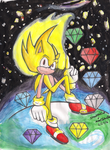Collab: Super Sonic 25th Anniversary! by MeetJohnDoe