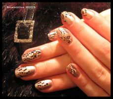 Butterflies in grass -nail-art by Shangova