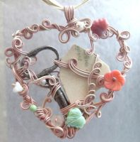 Key to My Heart Pendant by sojourncuriosities