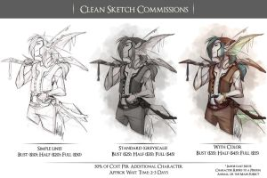 New Clean Sketch Commission Flyer by KuroReiOokami