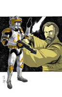 Commanders and Generals: Cody and Obi-Wan COLOR by Hodges-Art