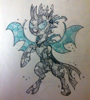 Bronycon Commission Crystal Changeling by BuckingAwesomeArt