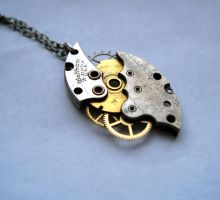 Clockwork Necklace 'Hurricane' by AMechanicalMind