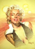 Marylin Monroe by aaronwty