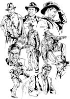 Indiana Jones sketchbook1 by NachoCastro