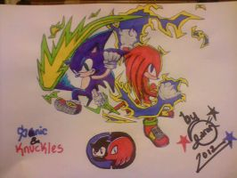 Sonic And Knuckles Battle Style by DeltaR-02