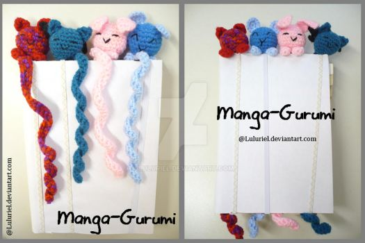 Manga-Gurumi, the cute bookmark by Luluriel