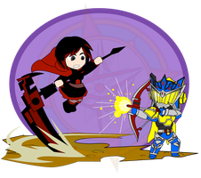ChibiCOMBAT - Ruby v KR Duke by Dragon-FangX