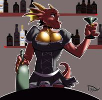 D'narl the bartender by greatwuff