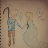 Queen Elsa and Jack Frost 2 by CatCatori