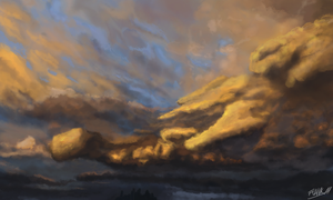 Cloud Study by FrankAtt