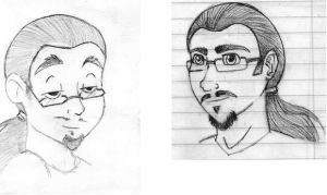 More Self Portraits by superwaffle350