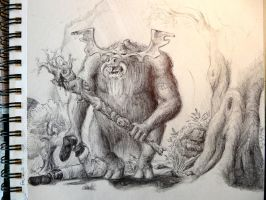 forest troll by croustipote