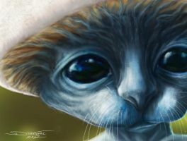 Realistic Smurf detail by AtomiccircuS