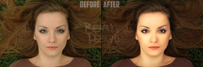 Retouch Before and After 2 by Xreaper19