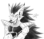 DBZ furry: Raditz by RinaTiger-Art