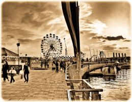 Festival Square - Sepia/Old Photo by Celestial22
