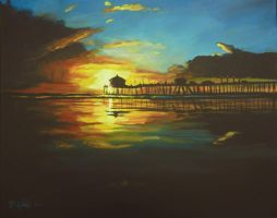 Rolling Sunset my painting by cliford417