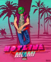 Hotline Miami-Biker by nockiman