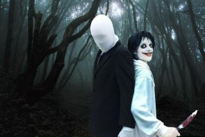 Slenderman and Jeff he killer's Cosplays (2) by TheGreatAkai