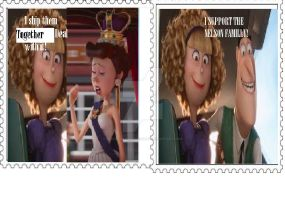 Two Stamps For You by peacelovehalstewart