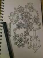 WIP Cogs and Gizmos. by Myandra