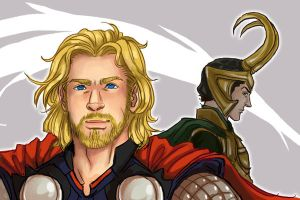 Thor - Blood Brothers by karaii