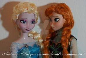Disney Frozen OOAK Anna and Elsa by lulemee