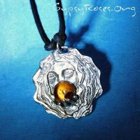 Gypsy and Amber Pendant in SS by che4u